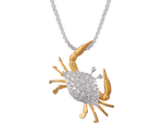 14K Crab Pendant With 30 Diamonds