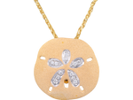25mm 14k Sand Dollar Pendant