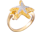 14K Yellow Gold Sea Star Ring