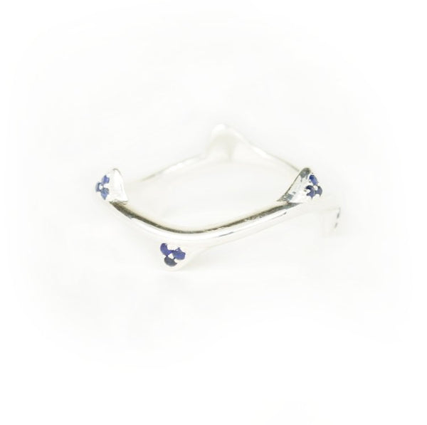 White Cap Ring Blue