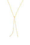 Baguette Diamond Lariat Necklace