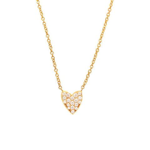 Pavè Diamond Heart Necklace