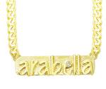 Custom Nameplate Necklace 6+ Letters