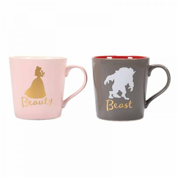 BEAUTY AND THE BEAST TAPERED MUGS (SET OF 2) - BEAUTY & BEAST