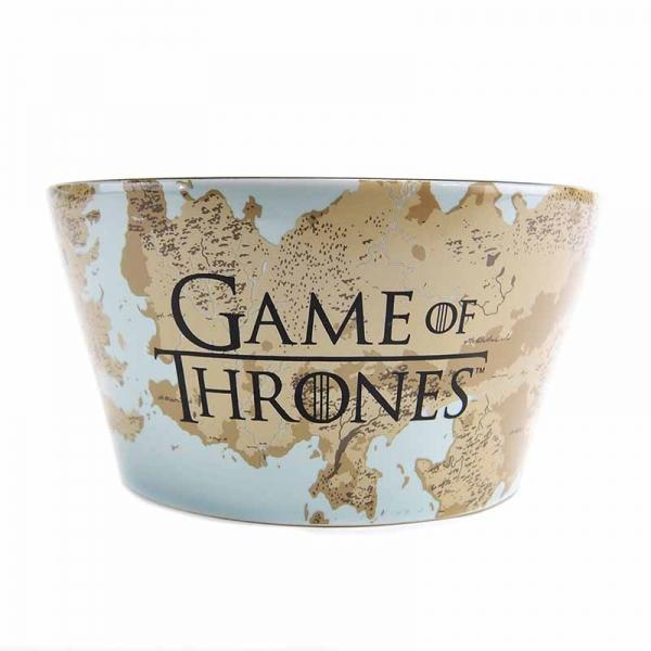 GAME OF THRONES BOWL - TARGARYEN PLAQUE & MAP