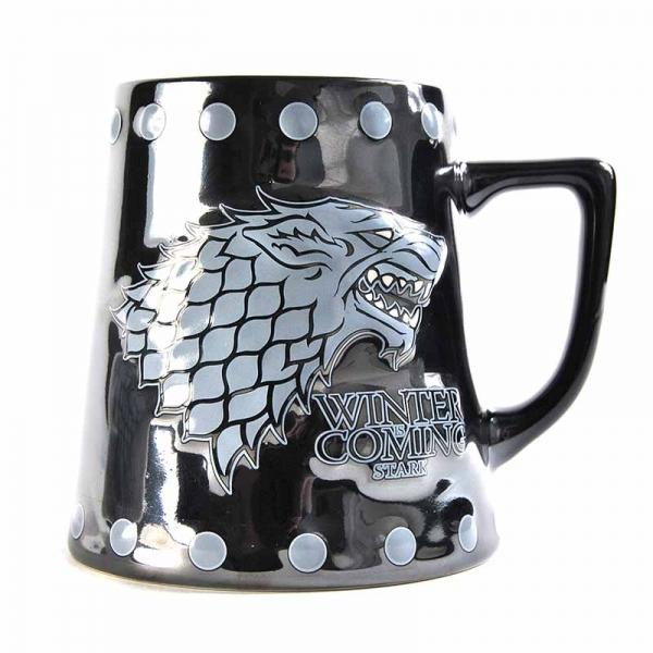 GAME OF THRONES TANKARD MUG - STARK STUD RELIEF