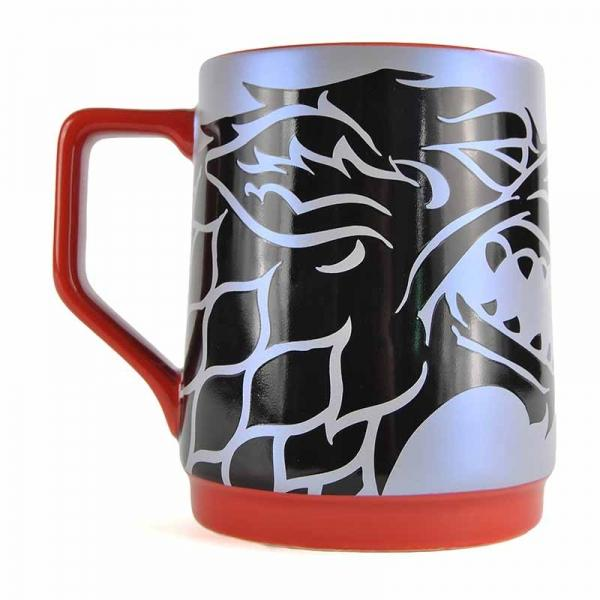 GAME OF THRONES TANKARD MUG - STARK REFLECTION DECAL