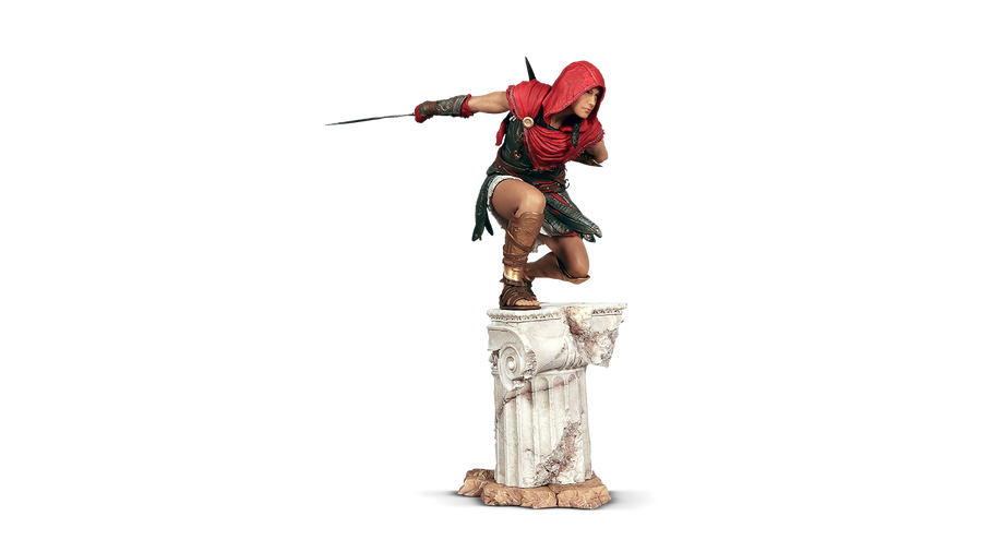 ASSASSINS CREED ODYSSEY - KASSANDRA FIGURINE & FREE WALLET OFFER