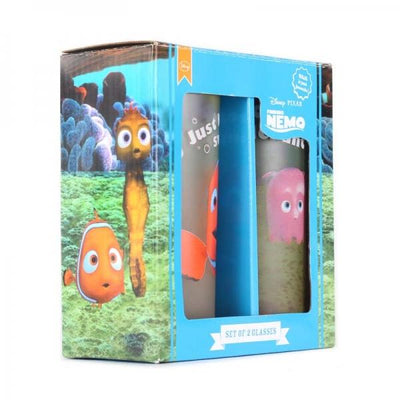 DISNEY GLASSES (SET OF 2) - FINDING NEMO (JUST KEEP SWIMMING)