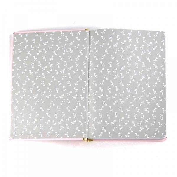 BEAUTY AND THE BEAST A5 NOTEBOOK - PINK FLORAL