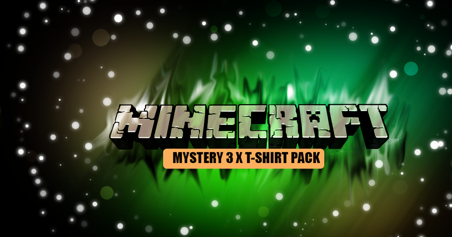 Minecraft Inspired 3 x Mystery T-Shirt Pack