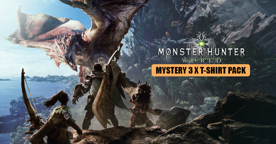 Monster Hunter World Inspired 3 x Mystery T-Shirt Pack for £19.99