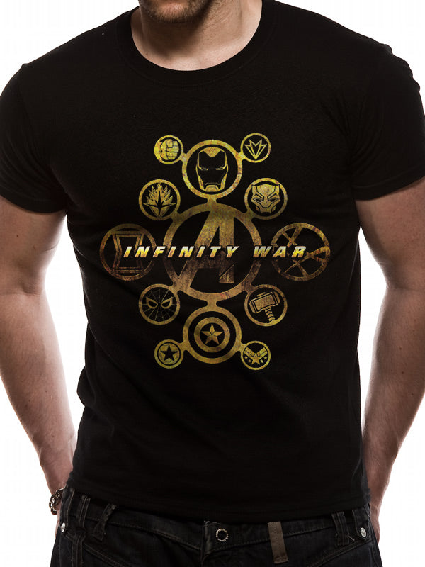 Avengers Infinity War - Hero Icons Official Licensed Unisex T-Shirt