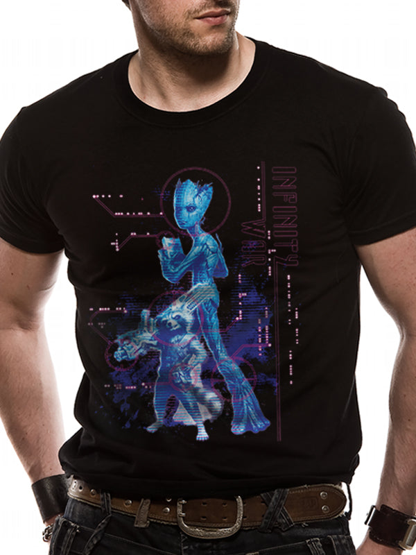 Avengers Infinity War - Neon Groot Official Licensed Unisex T-Shirt