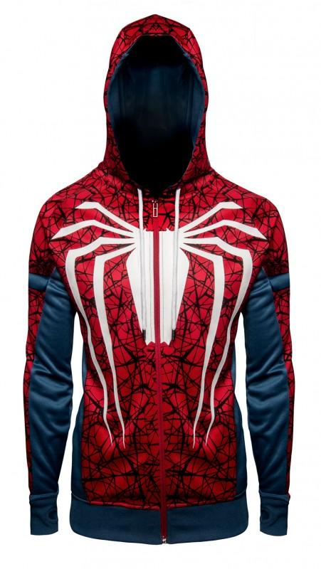 SPIDER-MAN PS4 UNISEX HOODIE & FREE MARVEL OFFICIAL TEE