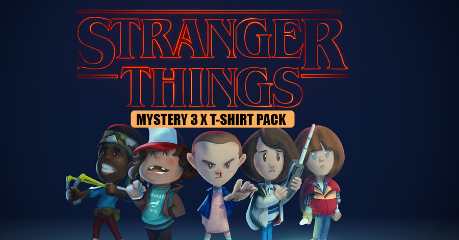 Stranger Things Inspired 3 x Mystery T-Shirt Pack for £19.99