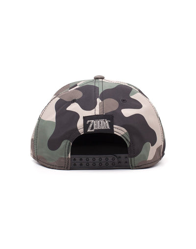 The Legend of Zelda Tri-Force Screen Print Camouflage Snapback Cap