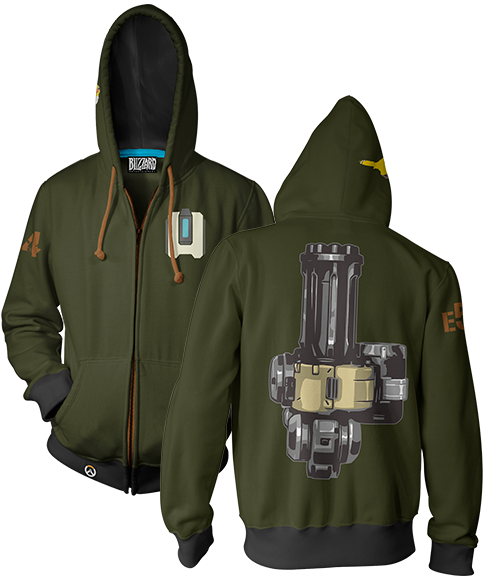OVERWATCH ULTIMATE BASTION ZIP-UP HOODIE & FREE OVERWATCH TEE OFFER