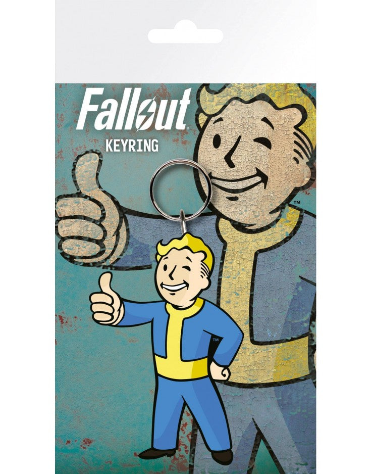 FALLOUT VAULT BOY THUMBS UP KEYRING