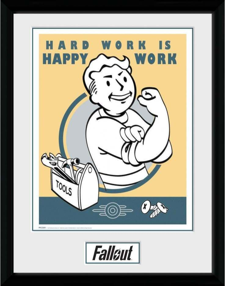 FALLOUT HARD WORK COLLECTOR PRINT 30x40cm