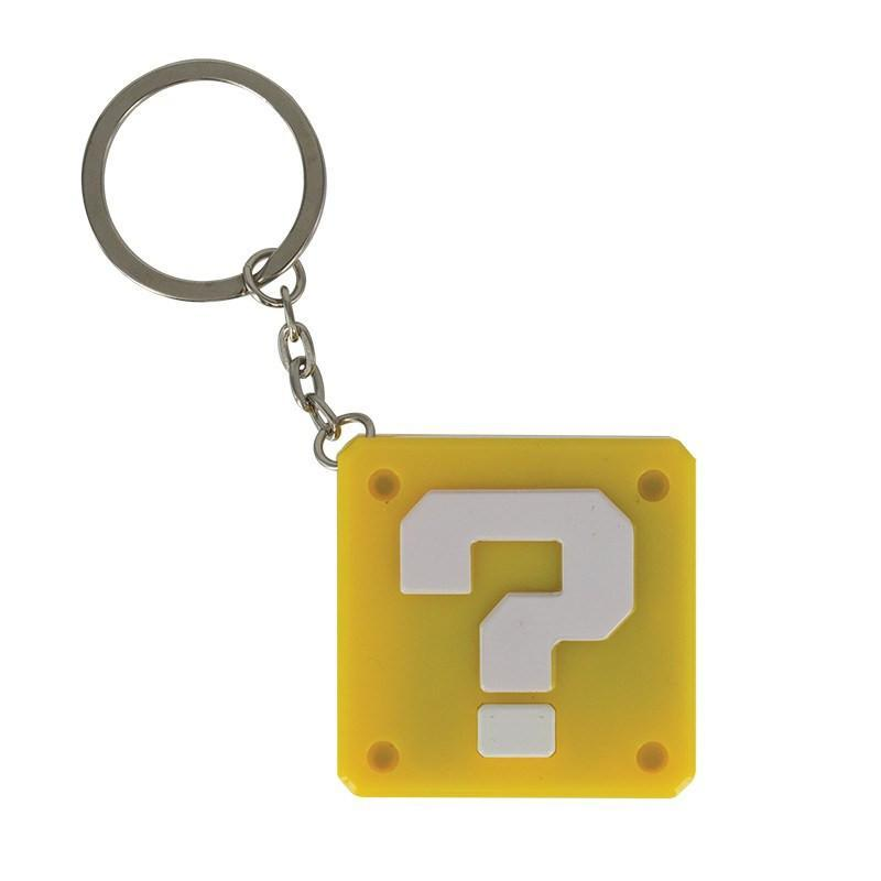 Super Mario Question Block Keyring Light