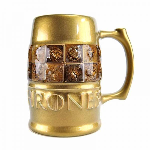 GAME OF THRONES TANKARD MUG - GALAXIC GLAZE SIGILS