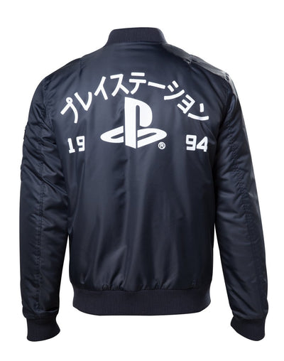 PLAYSTATION Official BLUE BOMBER JACKET WITH PLAYSTATION LOGO