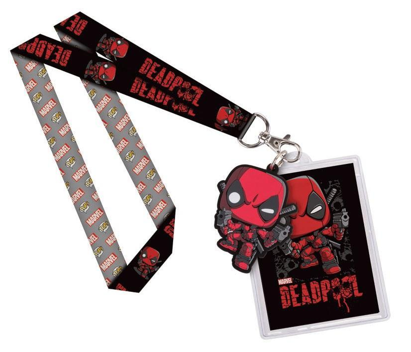Lanyard - Marvel Comics POP! Lanyard With Rubber Keychain Deadpool