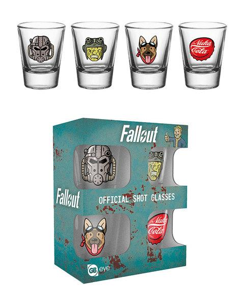Fallout Icons Shot Glasses