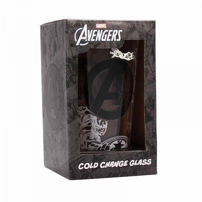 MARVEL AVENGERS COLD CHANGING LARGE GLASS - TEAM
