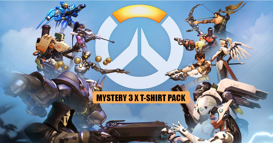 Overwatch Inspired 3 x Mystery T-Shirt Pack for £19.99