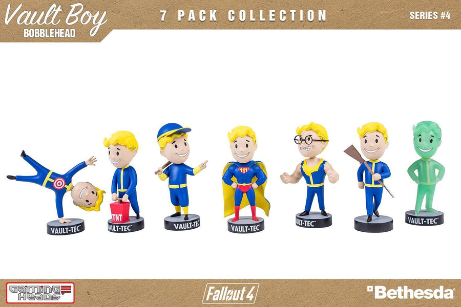 Fallout 4 Bobble-Heads 13 cm Vault-Tec Vault Boy 111 Series 4 Set of 7