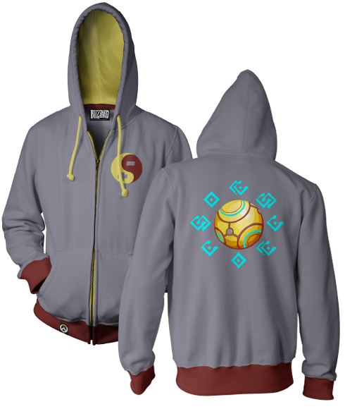 OVERWATCH ULTIMATE ZENYATTA ZIP-UP HOODIE & FREE OVERWATCH TEE OFFER