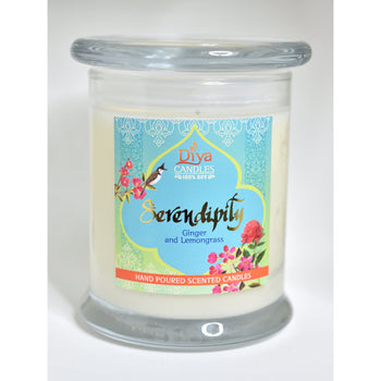 Serendipity-Ginger and Lemongrass - Premium Scented Soy Candle