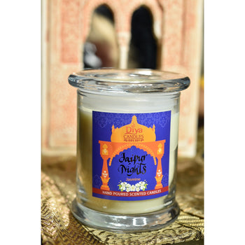 Jaipur Nights - Jasmine Flower- Premium Scented Soy Candle
