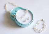 Bead and White Pearl Necklace