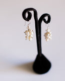 Berry Earrings in White Pearls