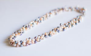 Snowflake Black Pearl Necklace