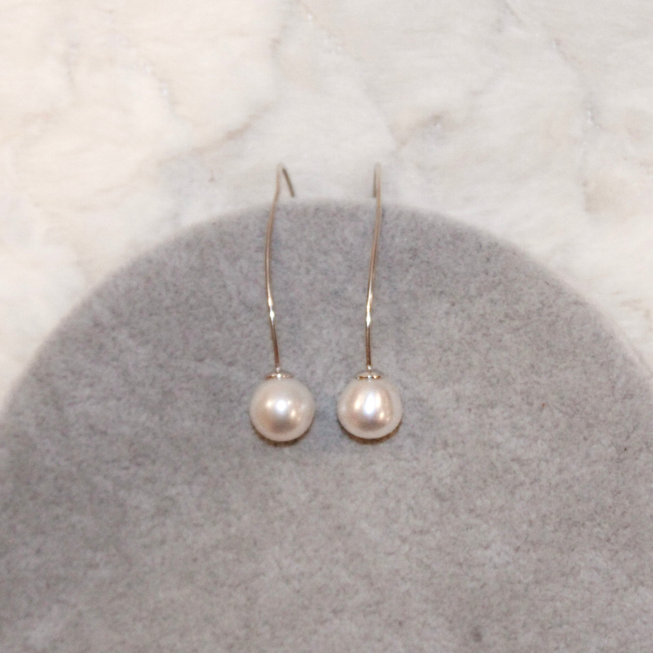 Wishbone Pearl Earrings