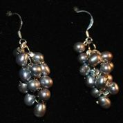 Berry Earrings in Black Pearls