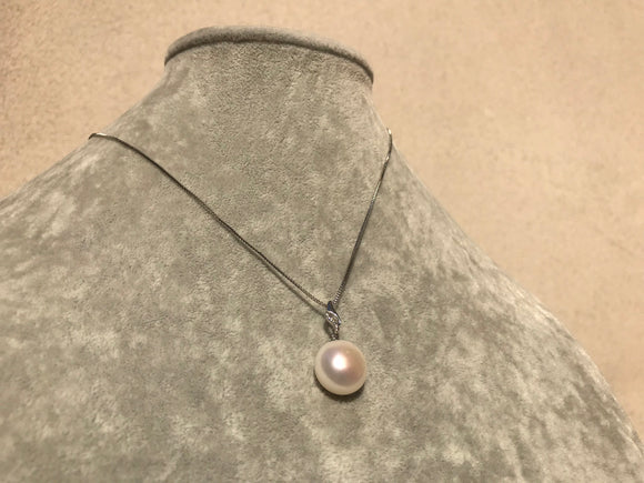 14-mm Bubble Pearl on Sterling Necklace