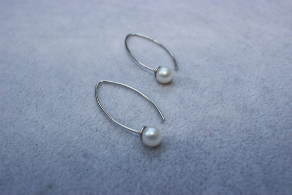 Sphere Pearl Earrings