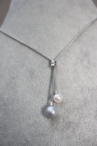 Lost Blue & White Pearl Necklace