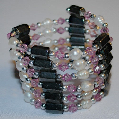 Pink Hematite and Pearl Bracelet/Necklace