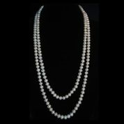 Long Strand White Pearl Necklace