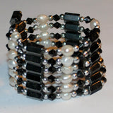 Black Hematite and Pearl - Bracelet/Necklace