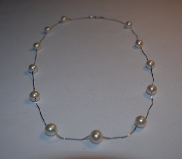Perfect White Pearl Necklace