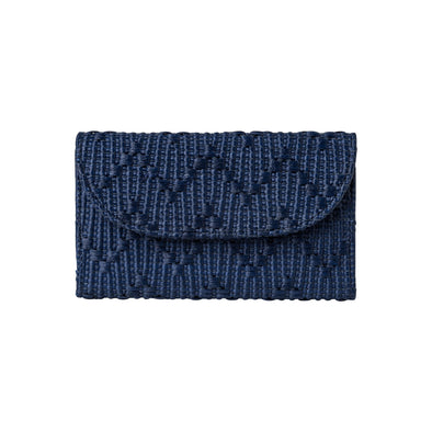 Lucía Mini Cartera Yute Navy