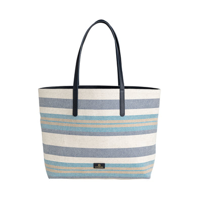 Olivia Tote Blue Stripes