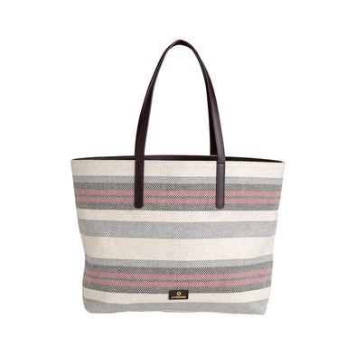 Olivia Tote Bordeaux Stripes